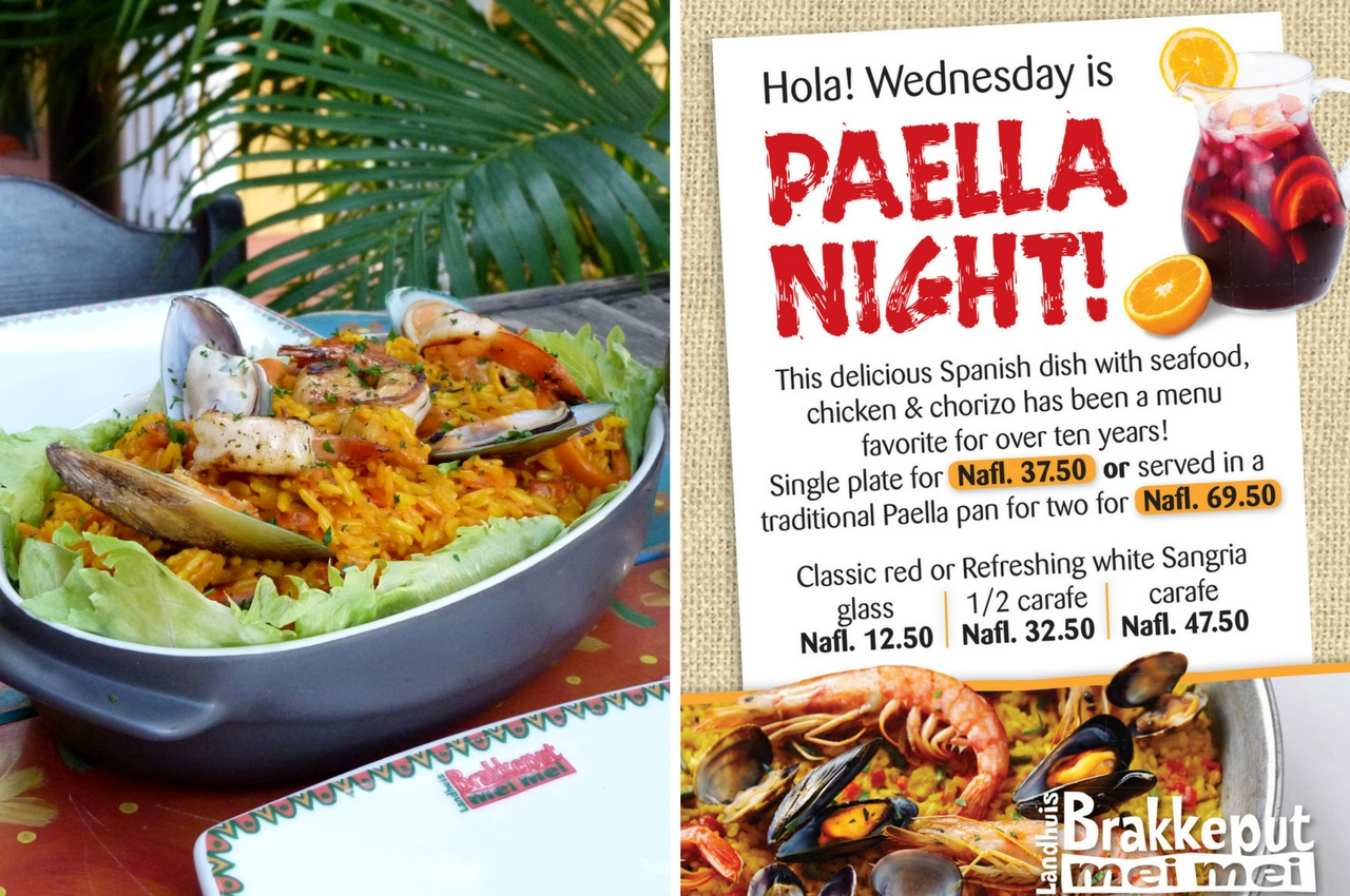 Every Wednesday: Paella night